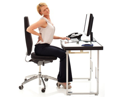 back pain at desk, needs an obutto ergonomic workstation