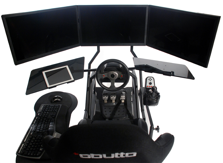 r3volution ergonomic workstation setup for sim racing
