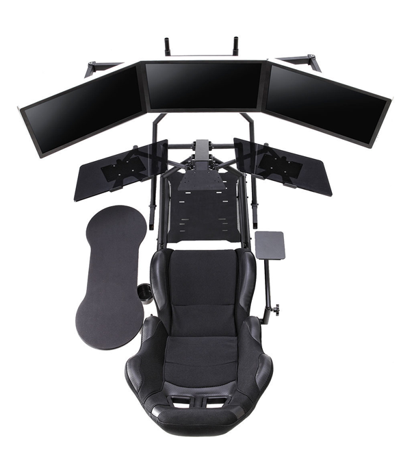 r3volution ergonomic workstation top view