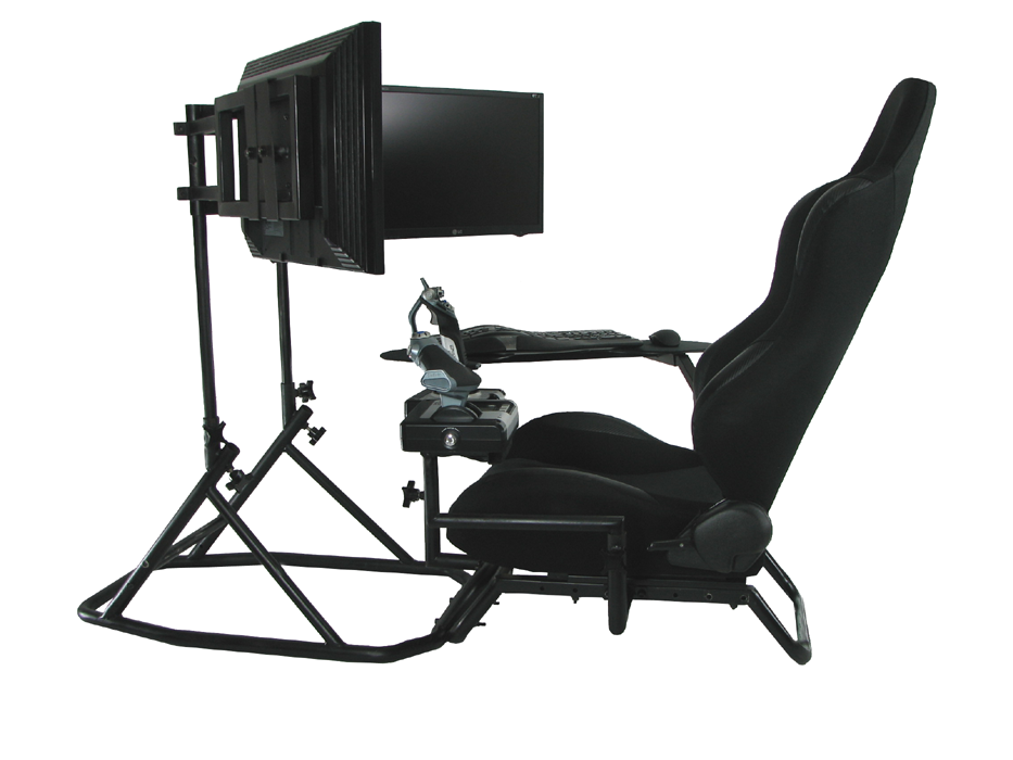 oZone gaming cockpit setup for flight sims