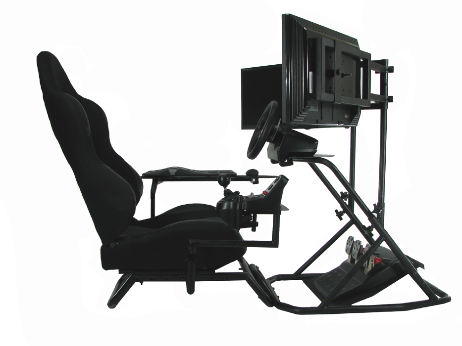 oZone gaming cockpit setup for sim racing