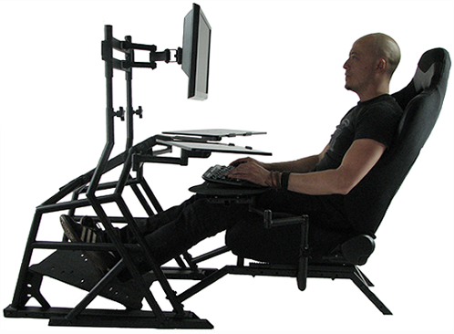 ergonomic seating position on r3volution ergonomic workstation