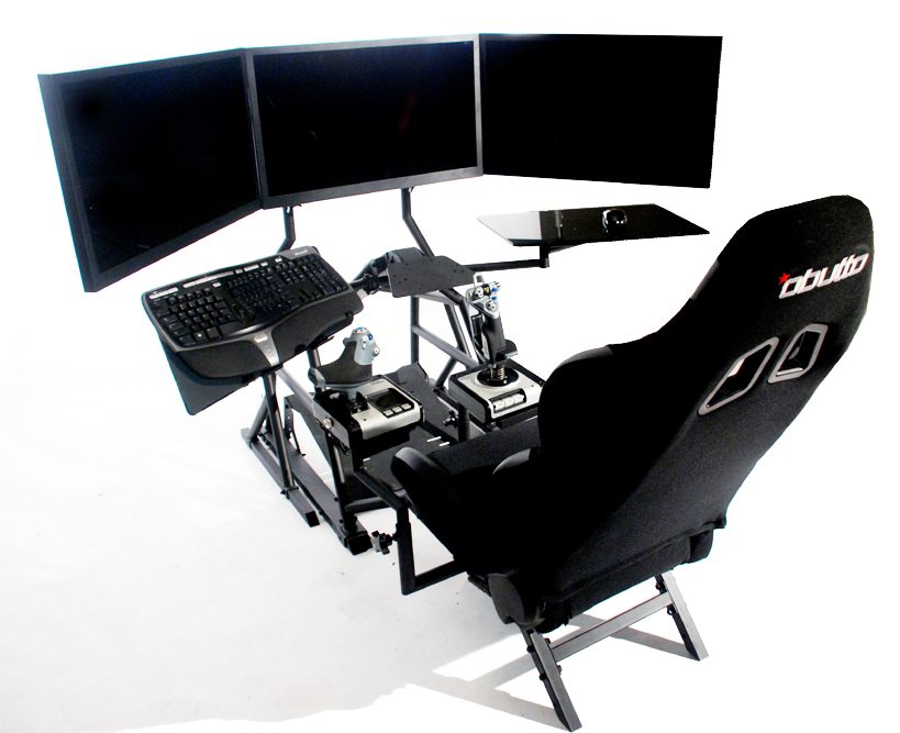 r3volution ergonomic workstation setup for flight sims