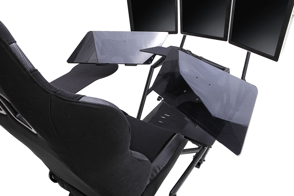 r3volution ergonomic workstation fully articulating tabletops
