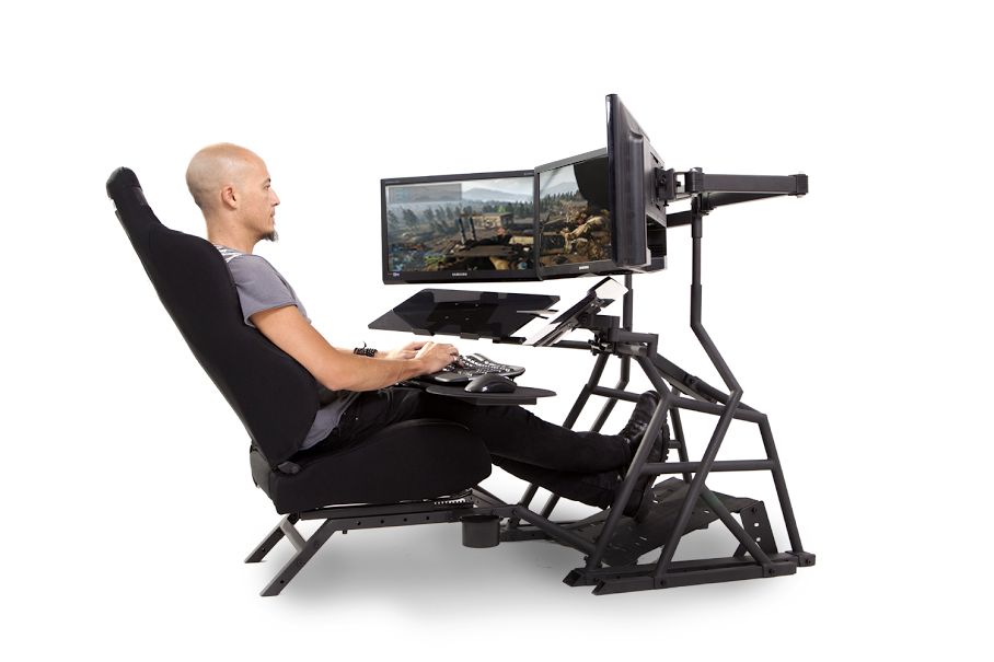 Gaming Computer Desk Racing Amp Flight Simulator Cockpit
